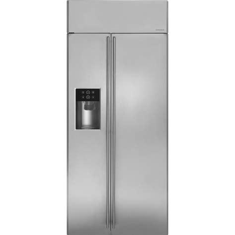 ge monogram zissdhss    cu ft built  side  side refrigerator  dispenser