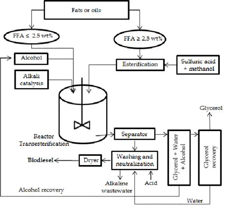 Biofuel Engine Diagram by Process Diagram Of Biodiesel Production By Alkali Catalyst