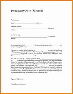sample promissory note form website resume cover letter With promissory letter template
