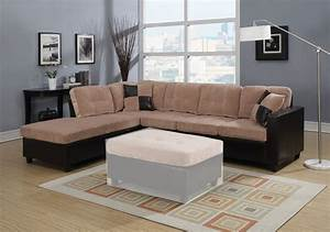 milano camel reversible sectional sofa with chaise With milano reversible sectional sofa