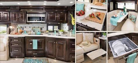 rv kitchen island tiffin allegro diesel motorcoach rv kitchen and 2077