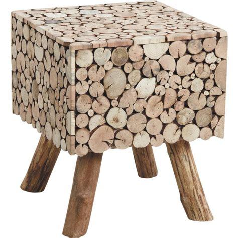 chambre et table d h e table d 39 appoint carrée rondins en sapin
