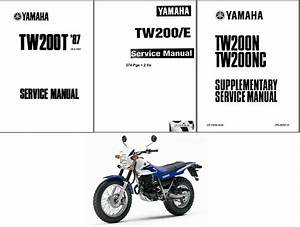 1987-2014 Yamaha Tw200 Service Repair Manual On A Cd