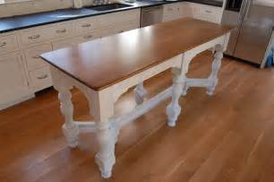 narrow kitchen island table millwork