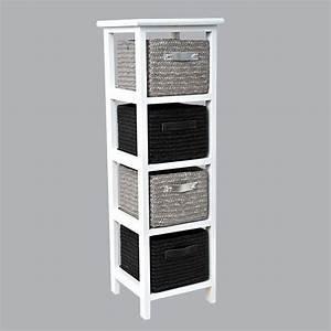 Meuble A Panier : meuble panier narrow noir meuble d co eminza ~ Teatrodelosmanantiales.com Idées de Décoration