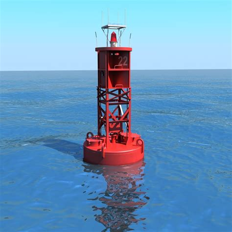 Buoy Boat Parts by Navigational Buoy 3d Model