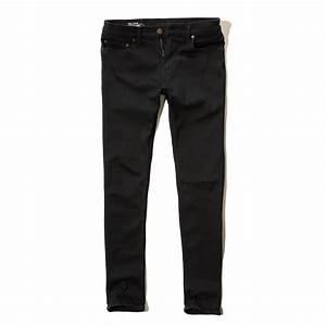 Hollister Super Skinny Jeans in Black for Men | Lyst