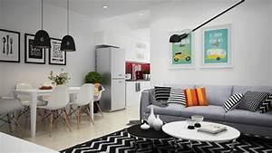 1001 conseils et exemples de deco interieur d With deco cuisine avec meuble salle a manger blanc et gris