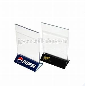 Clear Acrylic plastic Menu Holder Table Tent With Logo ...