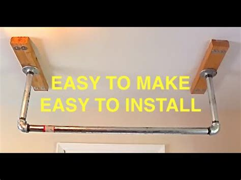 install pull up bar in garage how to build a pull up bar for your house