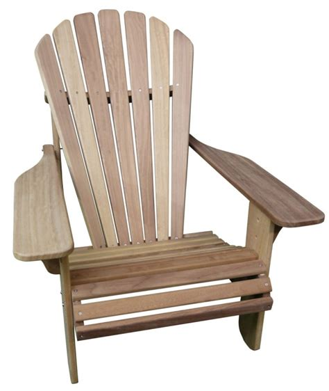 basic adirondack chair in iroko made in the uk by