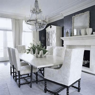 Great Art Decoration Black And White Dining Room Design