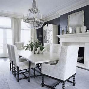 Great art decoration black and white dining room design for Modern dining room black and white