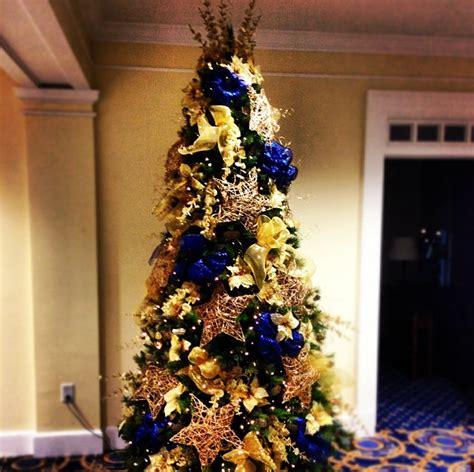 christmas tree  navy gold  yellow christmas