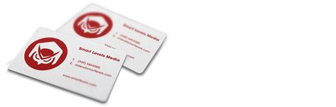 white plastic business card    smart levels printing