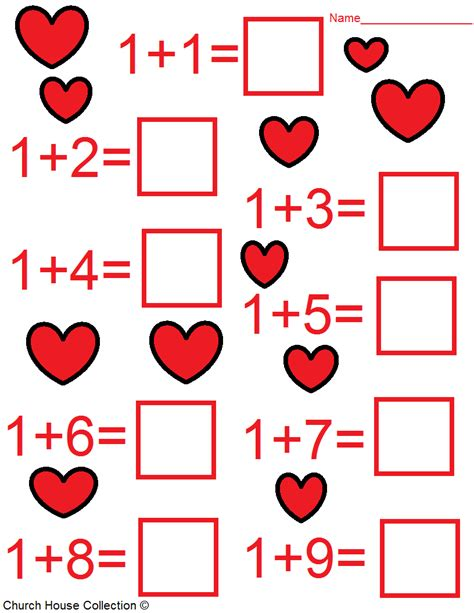 Church House Collection Blog Valentine's Day Math Worksheets For Kids