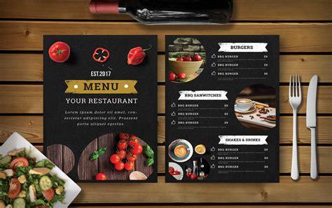 premium hotel psd dinner menu template effects