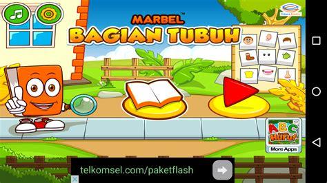 marbel belajar bagian tubuh game edukasi pendamping anak