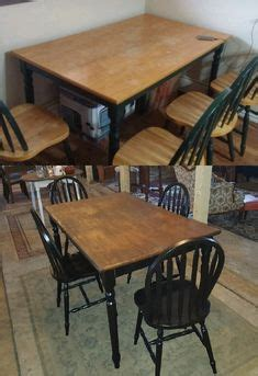 maple dining set refinished solid maple table