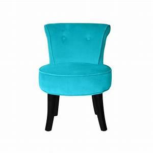 Petit Fauteuil Confortable : petit fauteuil crapaud velours turquoise louis achat vente fauteuil bleu cdiscount ~ Teatrodelosmanantiales.com Idées de Décoration