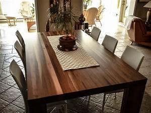 Table En Noyer : table de cuisine en noyer massif meubles sur mesure yascha savoie b niste ~ Teatrodelosmanantiales.com Idées de Décoration