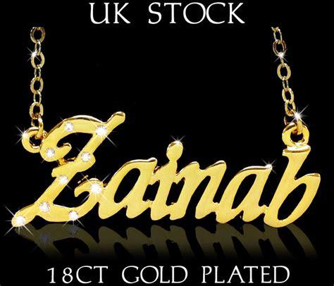 zainab  necklace  gold plated personalised fashion