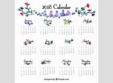Cute 2018 Calendar printable yearly calendar
