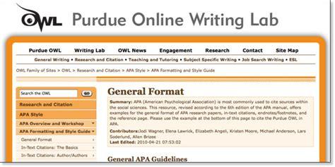 Welcome to the purdue owl. Apa purdue