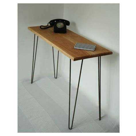 margot console table desk with hairpin legs by renn uk notonthehighstreet