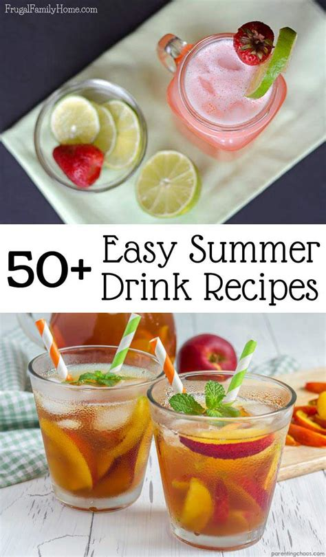 easy summer drinks to keep you cool frugal family home