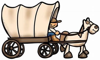 Wagon Clipart Westward Trail Expansion Oregon Pioneer