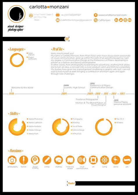 graphic resume on behance