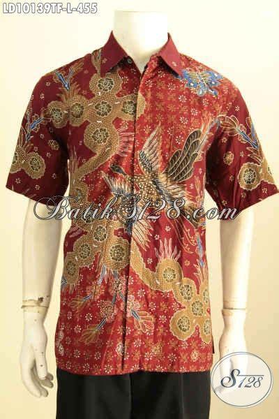 baju batik keren dan berkelas hem batik pria warna