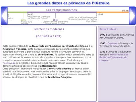 les temps modernes dates cours de histoire g 233 ographie cm1 les grandes dates et les grandes p 233 riodes de l histoire