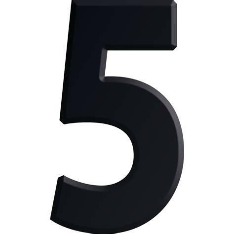 Broj samoljepivi, tip 5, visina 30 mm, aluminij crno ...