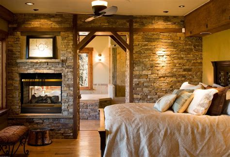 stacked stone fireplace  double sided home decorating