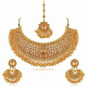 Apara Bridal Pearl LCT Stones Gold Necklace Set Jewellery ...