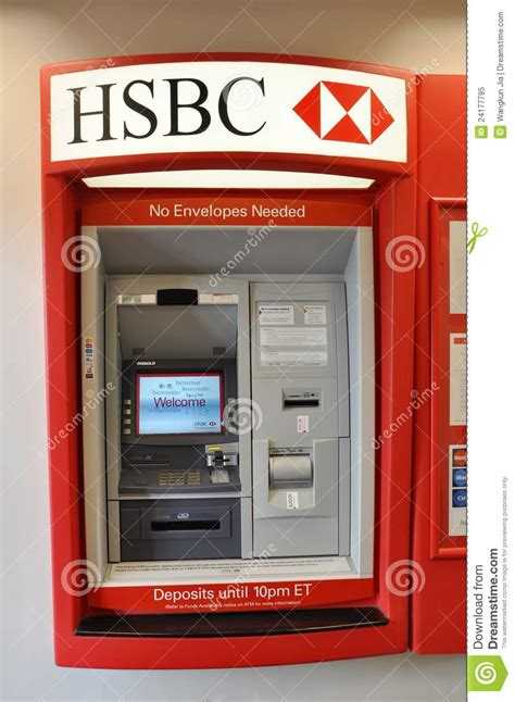 hsbc phone number hsbc 13 photos banks credit unions 58 bowery hsbc atm machine editorial image image 24177795