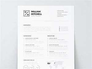 Best free resume templates for designers for Free minimalist resume template