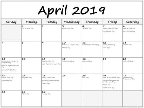 april  calendar  holidays aprilcalendar