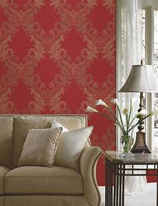 Red Damask Wallpaper