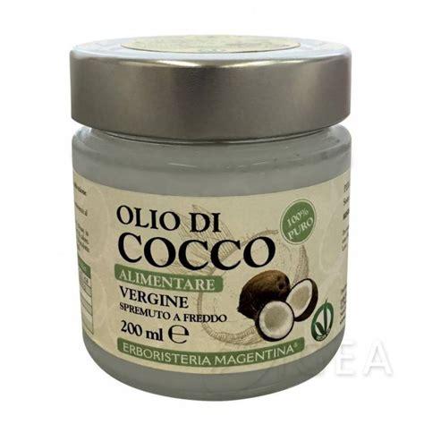 olio di cocco biologico alimentare erboristeria magentina olio di cocco alimentare spremuto a
