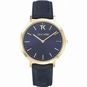 montre trendy kiss lovisa tg10089 05 montre cuir bleue With robe fourreau combiné avec bracelet montre black oak