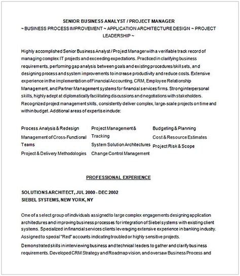 Junior Business Analyst Resume by Pin Di Resume Template