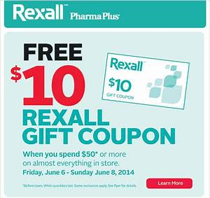 Rexall Canada Offers: Get A FREE $10 Rexall Gift Coupon ...
