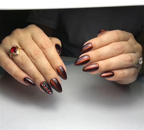 Дизайн ногтей миндалевидной формы новинки 2019 . дизайн ногтей