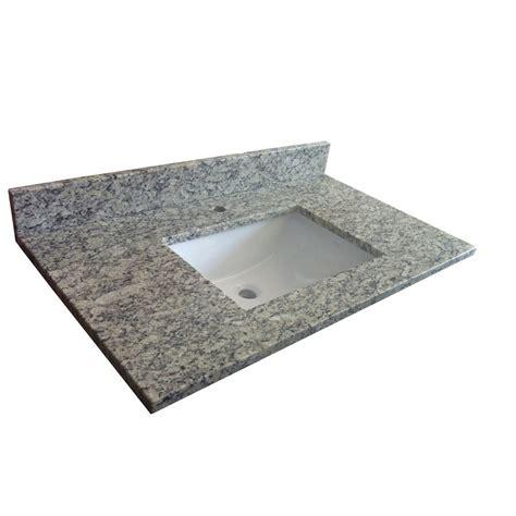 lowes bathroom sink tops allen roth tan brown granite vanity top with undermount