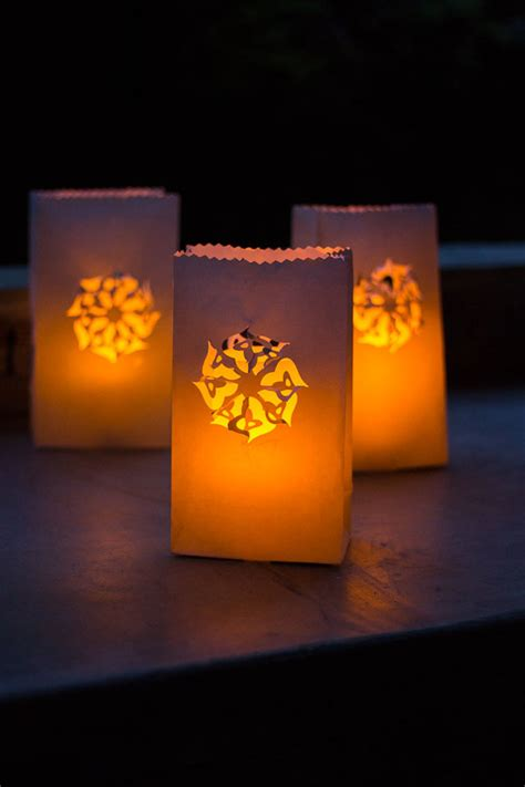 luminary diy backyard ideas allfreeholidaycraftscom