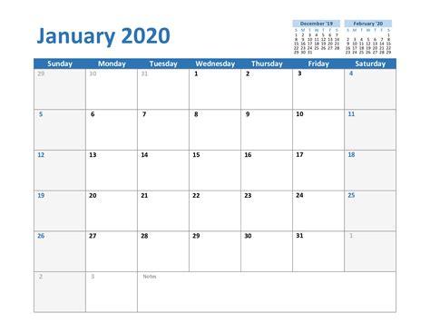 printable january  calendar  blank templates