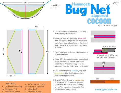 Hammock Mosquito Net Diy diy hammock bug net one of the easiest and cheapest ways